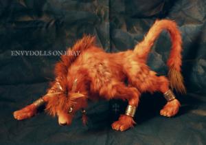 OOAK Final Fantasy 7 VIII Rojo XIII figura Estatua esculpir Felpa y Poseable
