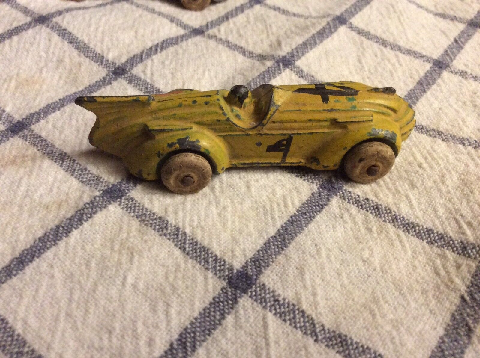 Vintage 30s Barclay Juguete Diecast Racer Race Coche 3.5  EE. UU.