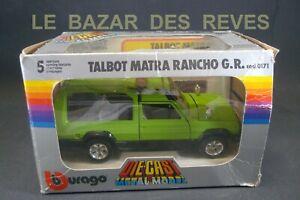BURAGO. TALBOT MATRA RANCHO.  REF: 0171. + Boite. 1/24