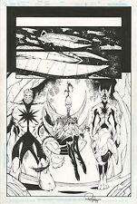 Rann  Thanagar Holy War 5 PAGE ART Ron Lim Hawkman Adam Strange DC Pencil & Ink