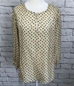659b392a07730 Textile Elizabeth And James Womens XS 100% Silk Blouse Floral Top ...