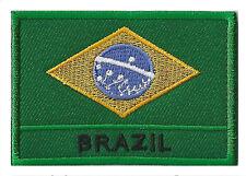 Écusson patche drapeau insigne Brésil Brazil 70 x 45 mm Pays Monde brodé