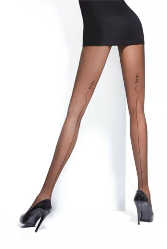 """Patterned Tights Back Seamed Tights 20 Denier by Adrian /"""" EDNA/"""""""