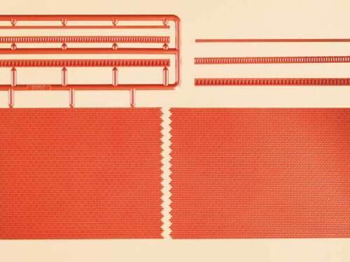 Auhagen H0 41205 2 Ziegelmauern mit Zahnfriesvarianten