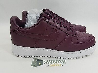 new concept 11be2 92947 NIKELAB AIR FORCE 1 LOW NIGHT MAROON-WHITE SZ 8.5 555106-661 883418093747    eBay