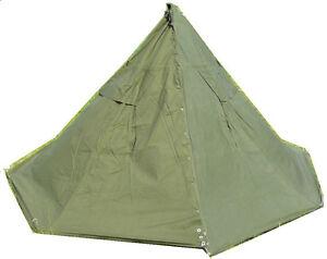 ... Polish-Army-new-poncho-Tent-Lavvu-Teepee-olive-  sc 1 st  eBay & Polish Army new poncho Tent Lavvu Teepee olive canvas 2pcs full ...