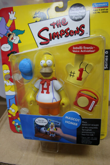 The Simpsons Mascot Homer Playmates Toys - Series 6 - New In Box JSH