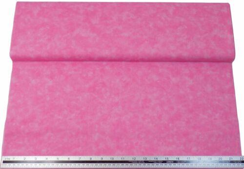 Marbre Look Rose Clair 100/% Coton Haute Qualité Tissu Matière 3 Tailles