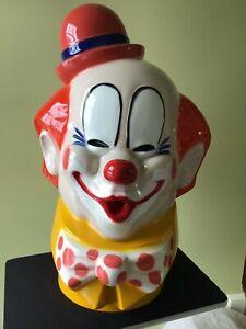Vintage Clown Helium Balloon Tank Cover Topper Head Circus Fair Windy Corp 1974