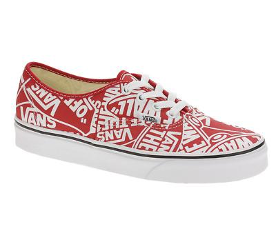 VANS Authentic (OTW) Red True White Logo Mix Skate Shoes Mens Size | eBay