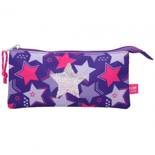 Depesche 10661 TOPModel Fächerschlamper Streichpailletten Sterne lila
