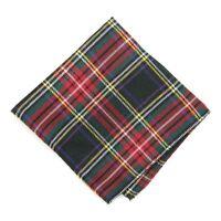 Christmas Tartan Plaid Handkerchief Pocket Square, 12 X 12 Sale