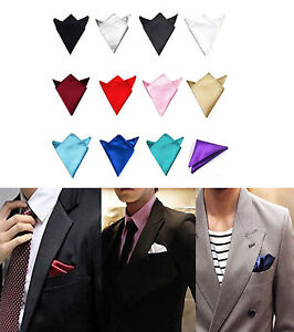 New Men/'s Satin Silk Pocket Square Hankerchief Wedding Party Formal Suit
