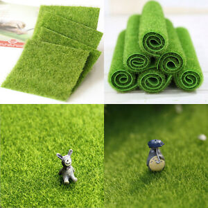 Faux-Lawn-Artificial-Miniature-Grass-Fairy-Garden-Ornament-Dollhouse-Craft-Decor