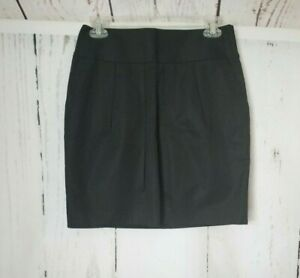 Ann-Taylor-LOFT-Black-Pencil-Skirt-with-Pleats-and-Pockets-Size-0
