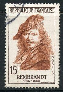 Stamp / Timbre France Oblitere N° 1135 / Celebrite / Rembrandt RafraîChissement