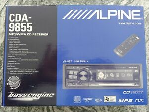 Alpine-CDA-9855-CD-Player-In-Dash-Receiver-MP3-in-the-box-with-Aux-in-adapter