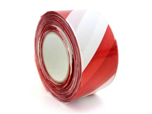 Absperrband Signalband Rolle x 500m Flatterband rot//weiss Sperrzone Warnband