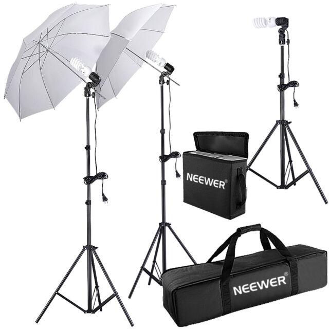 Neewer 600W Photo Studio Umbrella Continuous Lighting Kit f Portrait Photography