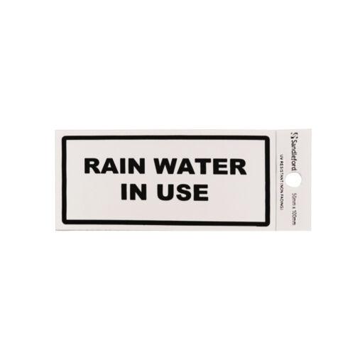 Sandleford Rain Water In Use Self Adhesive Sign
