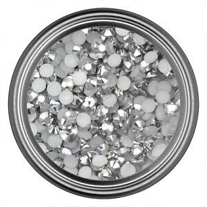 Silver-Resin-Rhinestone-Gem-2mm-3mm-4mm-5mm-6mm-Flat-Back-Nail-Art