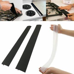silicone stove counter gap cover oven guard spill seal slit filler kitchen super. Black Bedroom Furniture Sets. Home Design Ideas