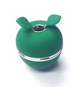 Apple Head Hookah bowl heat resistant high quality aluminum silicone Green)