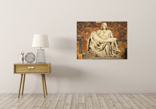 Michelangelo Pieta 1499 Old Master Painting Reproduction Canvas Art Print