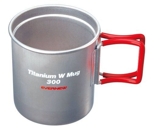 NEW Ebanyu titanium W mug 300FH RED EBY269R EVERNEW
