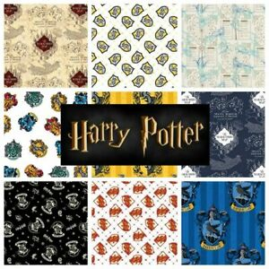 Harry-Potter-100-Cotton-Fabric-by-CAMELOT-sold-per-fat-quarter