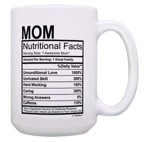 Funny Mom Birthday Gifts Mom Nutritional Facts Best Mom Gift Mug