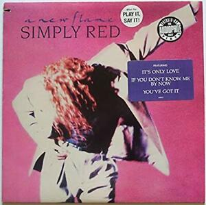 SIMPLY-RED-034-A-New-Flame-034-PROMO-Audiophile-Virgin-vinyl-LP-1989-Like-new