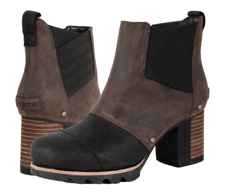 per il tuo stile di gioco ai prezzi più bassi SOREL donna Addington Chelsea avvio sz 10.5 10.5 10.5 Tobacco,nero Waterproof Leather  con il 100% di qualità e il 100% di servizio