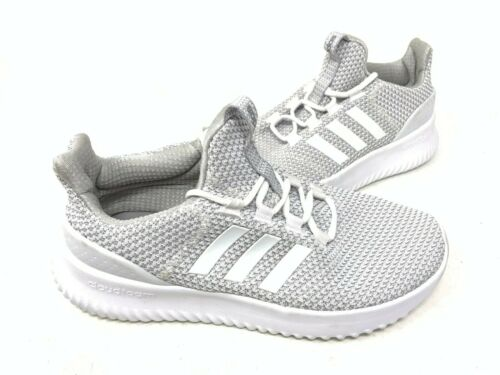 NEW Adidas Youth Unisex Cloudfoam Ultimate Shoes White//Silver #AQ1688 152W sz