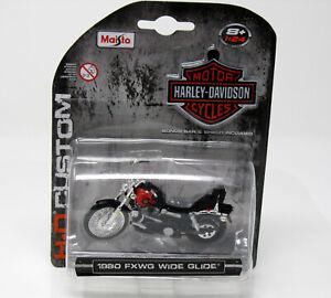 Modelo-de-moto-1-24-Harley-Davidson-1980-fxwg-Wide-Glide-maisto