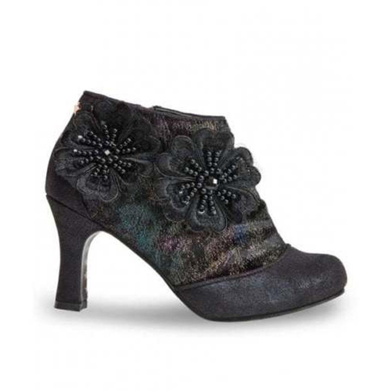 Joe marróns Esmeralda negro imitación cuero Floral Steampunk Victoriano Larp botas
