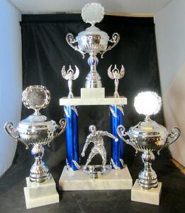 3er-Serie-Saeulen-Pokale-54-5-28-3-cm-Embl-u-Gravur-versch-Sportarten