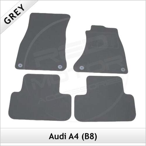 Audi A4 Saloon B8 2007-2015 Sur Mesure Ajusté Tapis de voiture Tapis de sol gris