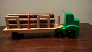 Melissa and Doug Wooden Log Hauler Carrier Toy Truck lorry vehicle Rare