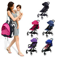 Mini Baby Stroller Travel System Small Pushchair Carriage One-key Fold Outdoor