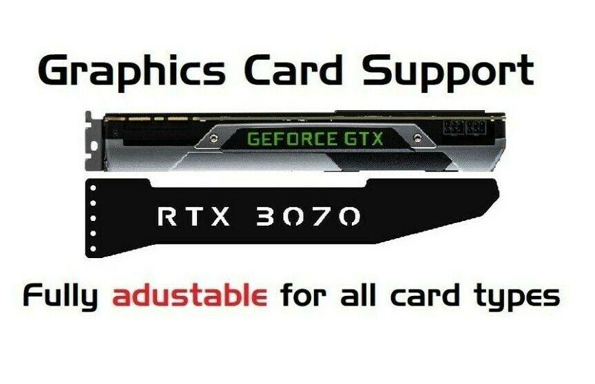 RTX 3070 - LED RGB GPU Anti-Sagging Support Bracket Brace NVIDIA AMD GTX RTX
