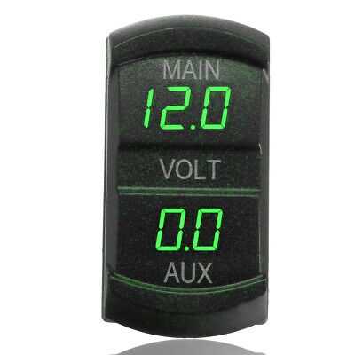 Waterproof Voltage Gauge Meter with Terminals for Boat Marine Vehicle Motorcycle Truck ATV UTV Car with Blue Light SUBALIGU DC 12V 24V Car Voltmeter with LED Digital Display Panel