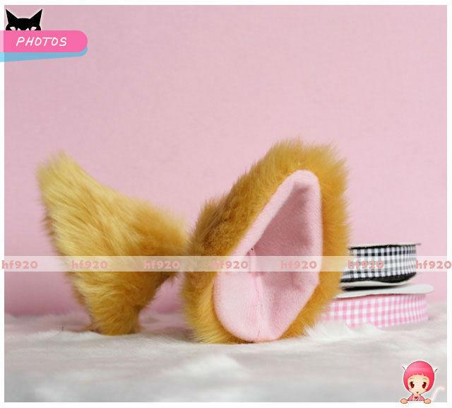 Lolita Sweet Anime Cosplay Costume Fluffy long fur Party Neko Cat ears Hair clip