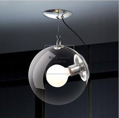 New Modern Glass Shade Ceiling Lighting Pendant Lamp Light Fixture