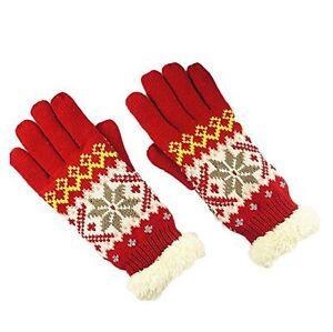 Gants-epais-et-chauds-motif-flocon-de-neige-pour-Femme-taille-unique