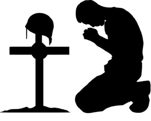 Praying Soldier Stencil RE-USABLE 10 X 7.5 INCH