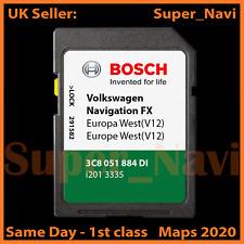 VW RNS 310/Skoda Amundsen Assise SAT NAV Navigation carte SD West Europe V10/2018