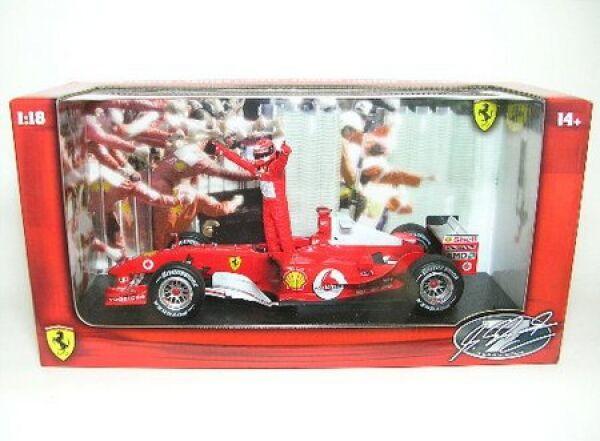 FERRARI f2004 e M. Schumacher personaggio WORLDCHAMPION formula 1 stagione 2004