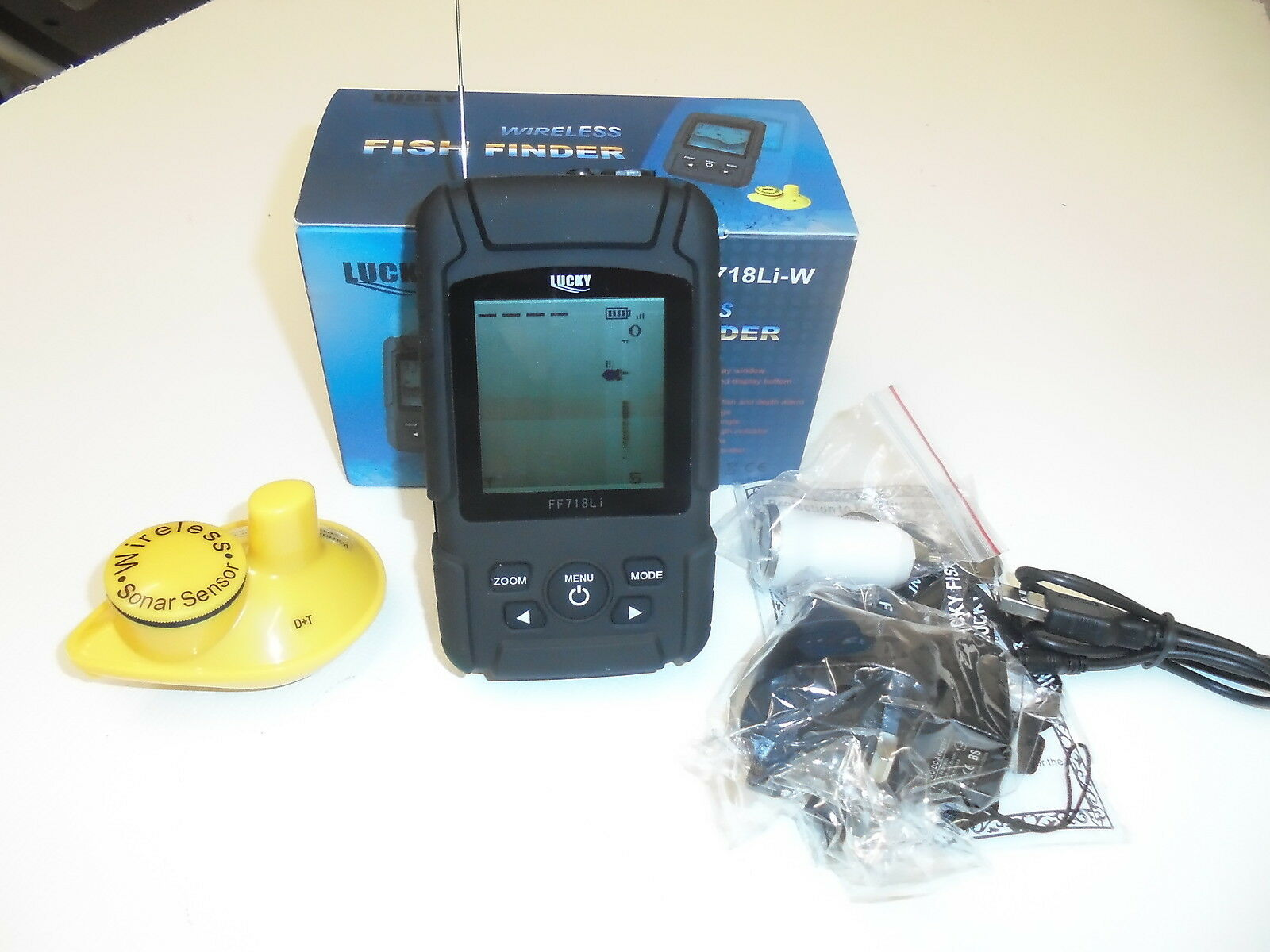 Wireless Fish Finder - 180 Metre Range, depth, features, Sonar, Carp, FREE Gift