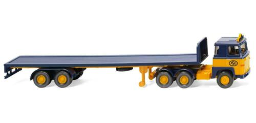 "WIKING Modell 1:87//H0 LKW Flachpritschensattelzug Scania 111 /""ASG/"" #055403"